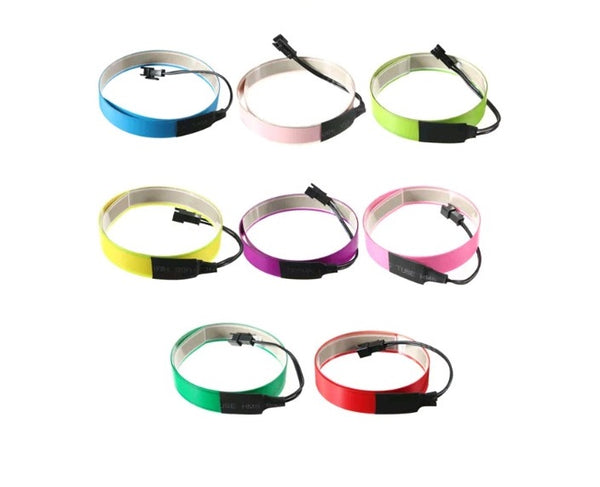 Colorful 60cm x 14mm Electroluminescent Tape - Electromann SA