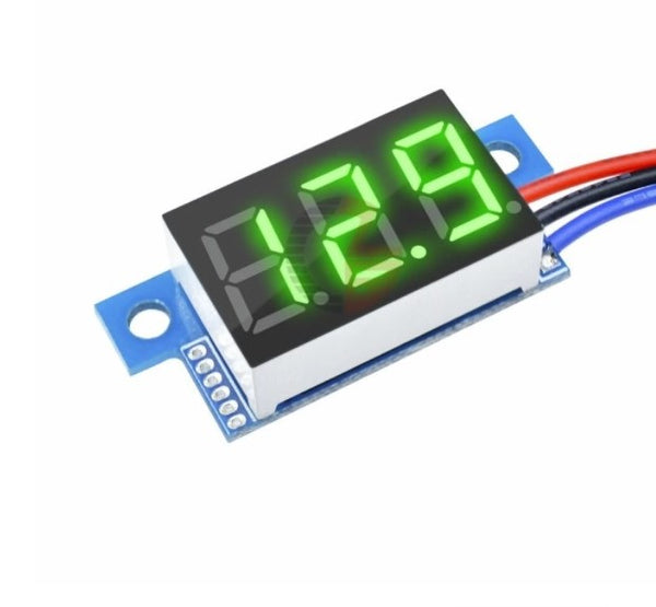 Geekcreit® DC 0-200V 0.36 Inch Mini Digital Volt Meter 3 Wire - BLUE
