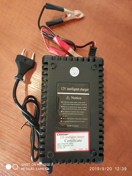 12V 7A Intelligent Pulse Battery Charger