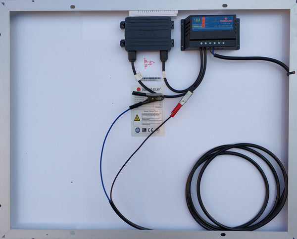 50W 10A Solar Car/Boat Battery Charger Kit