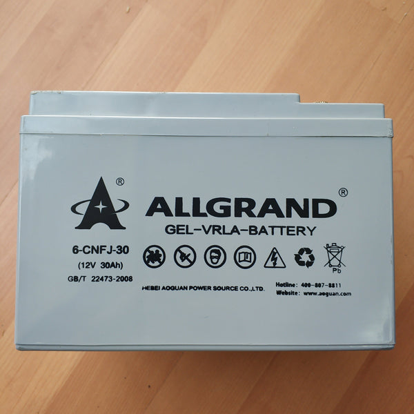 Allgrand 30ah 12v Rechargeable Gel Solar Battery