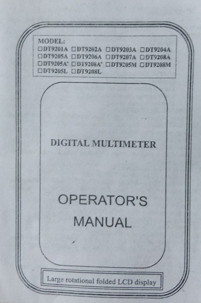 DT9205A Digital Multimeter