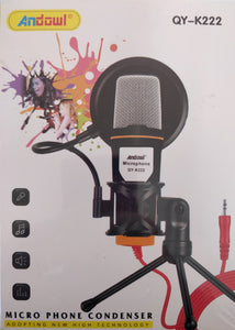 Andowl QY-K222 Microphone Condenser