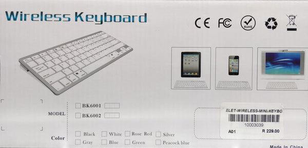 Wireless Bluetooth Mini Keyboard