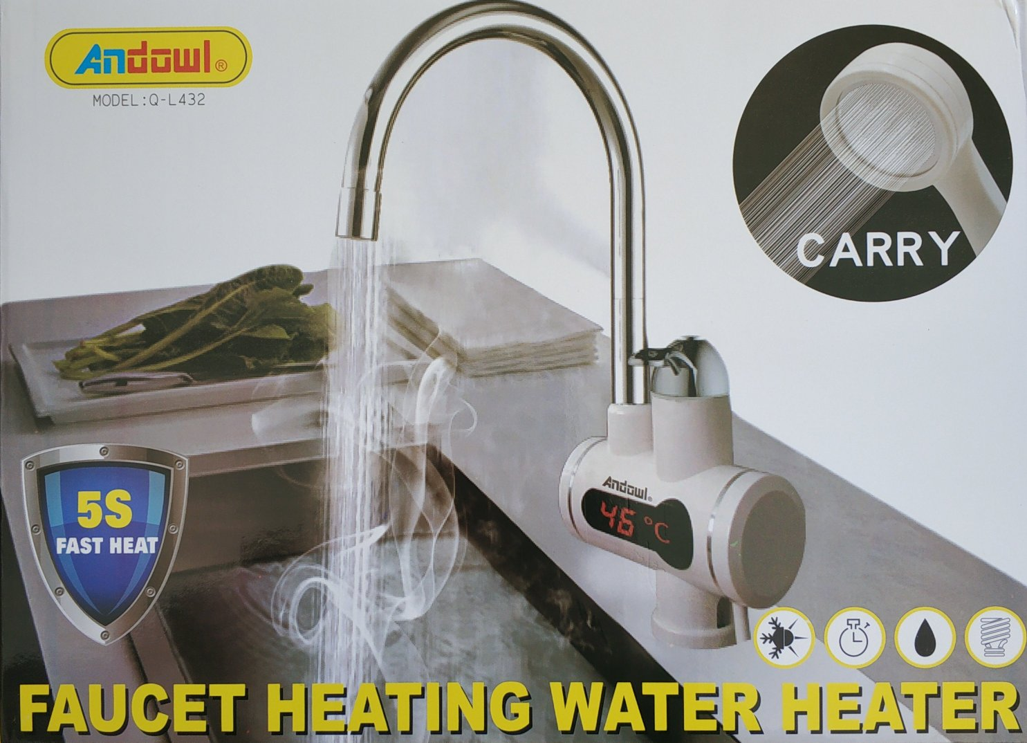 Andowl Q-L432 Faucet Heating Water Heater