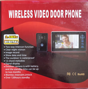 7 Inch 2.4GHZ Wireless Video Door Phone