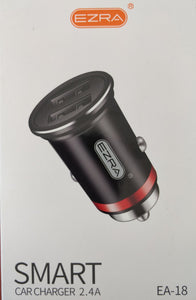 Ezra 2 USB Port Smart Car Charger 2.4A