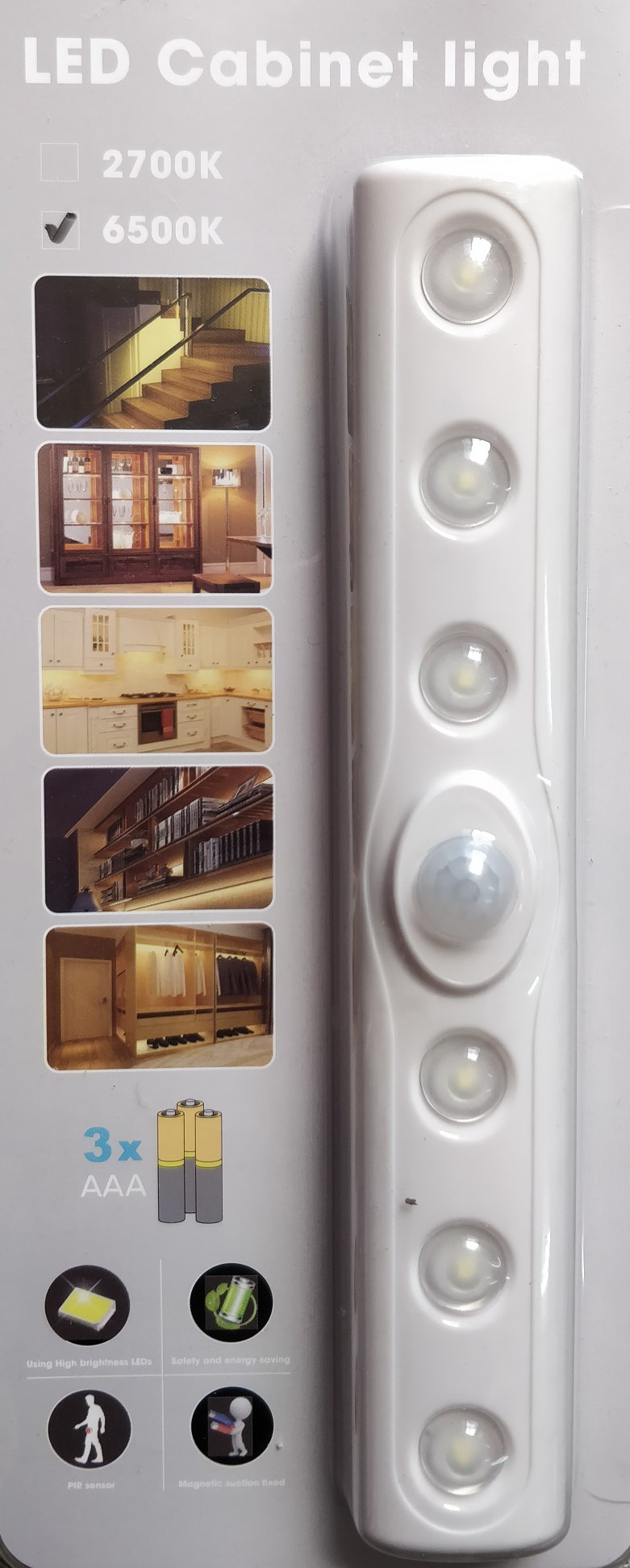 LED Motion Detection Cabinet Light