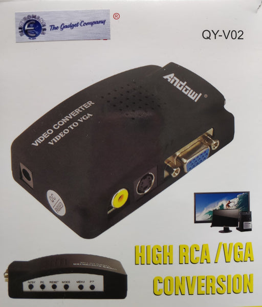 Andowl High Resolution Video to VGA Converter
