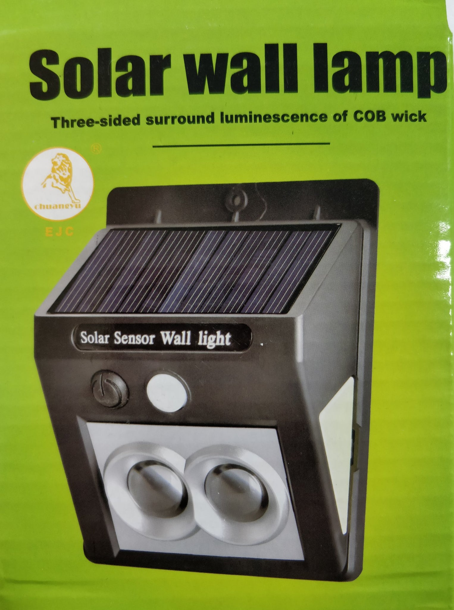 3 Sided LED Solar Motion Wall Light