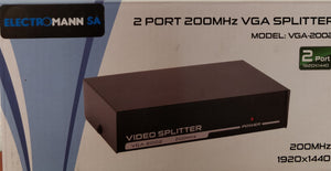 VGA Splitter 2 Port 200MHz