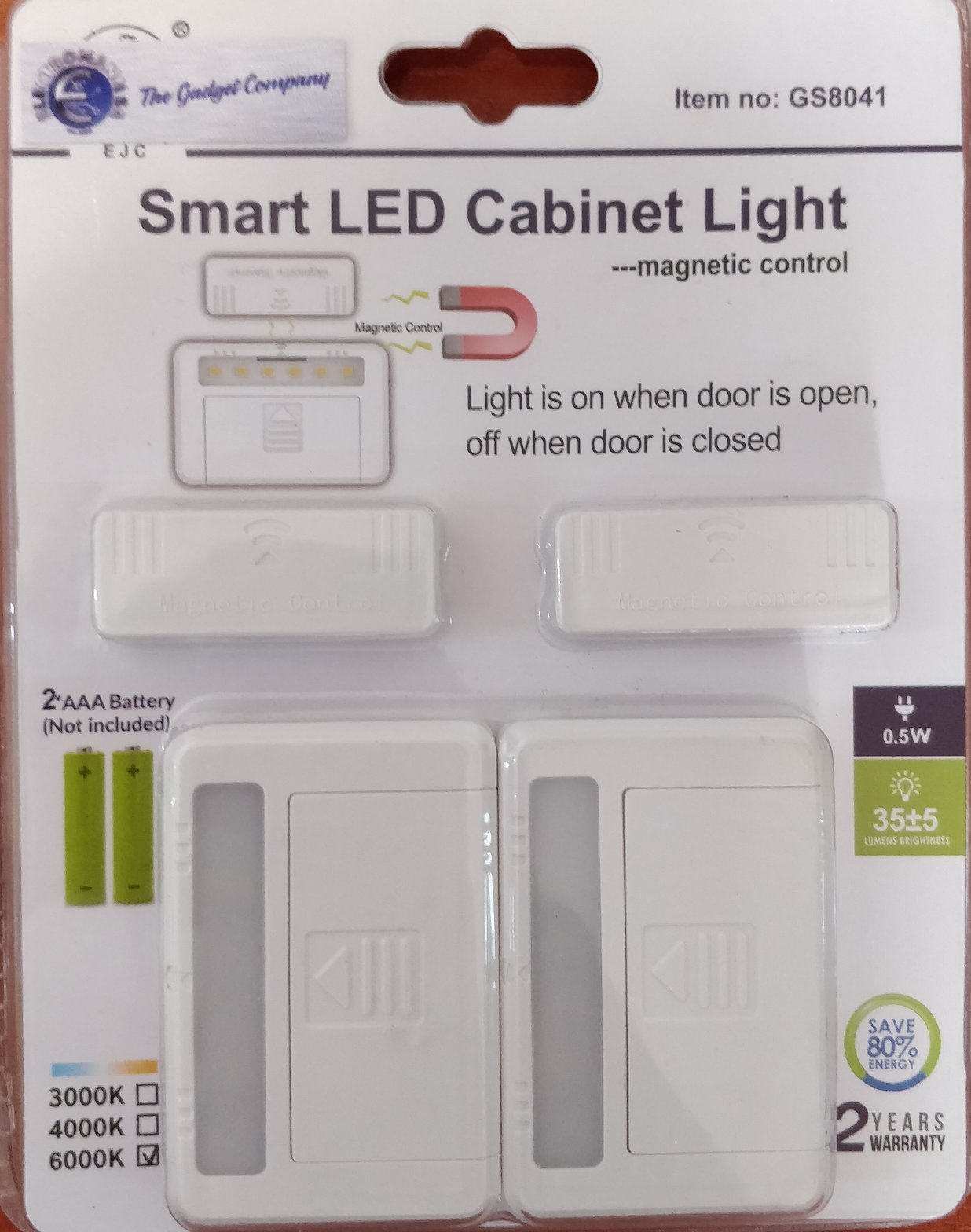 Smart LED Cabinet Light with Magnetic Control - GS8041