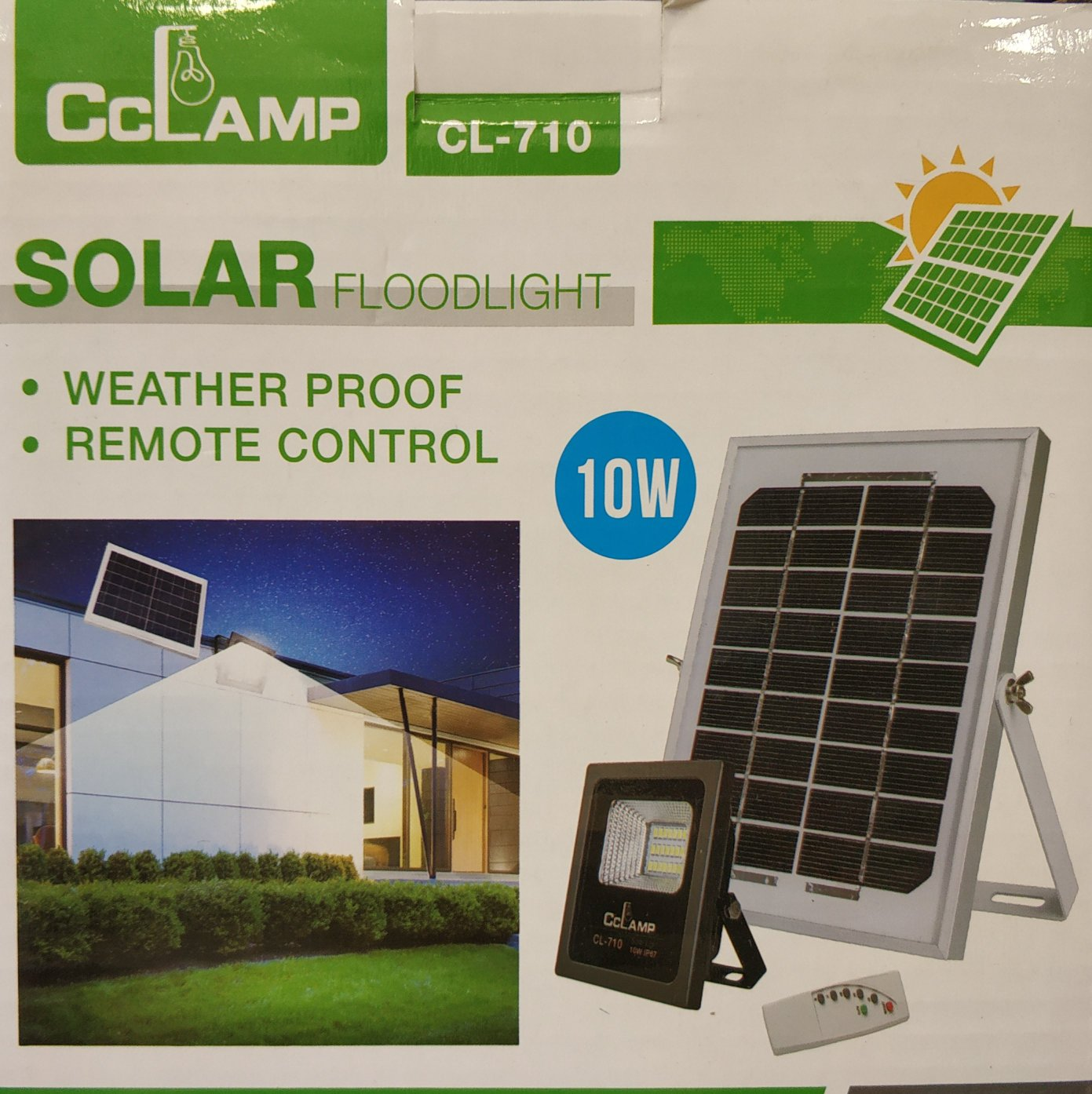 10watt Solar Outdoor Flood Light