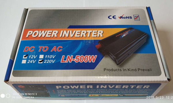 500watt DC to AC Inverter - Electromann SA
