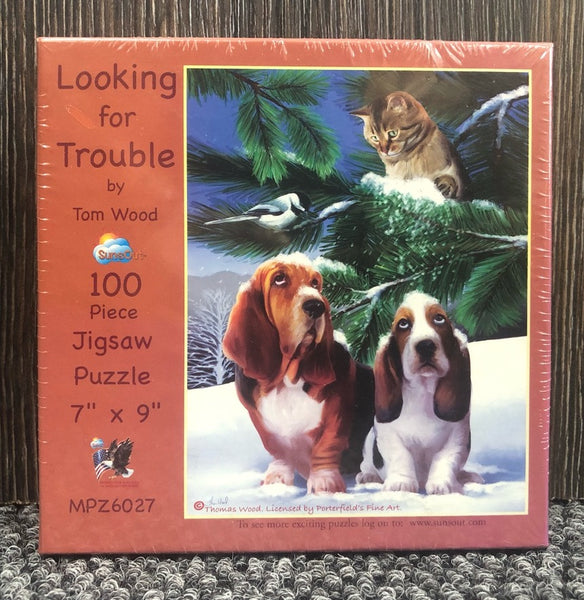 Mini 100pc Puzzle - Looking for Trouble
