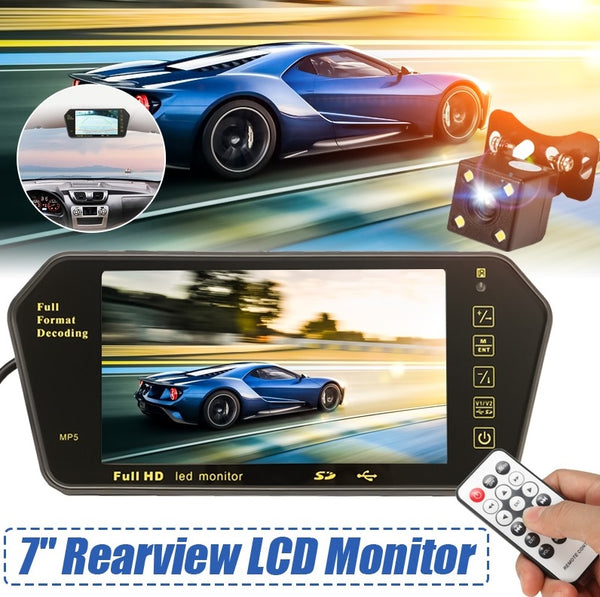 7 Inch LCD Color USB MP5 Reversing Mirror Monitor - Electromann SA