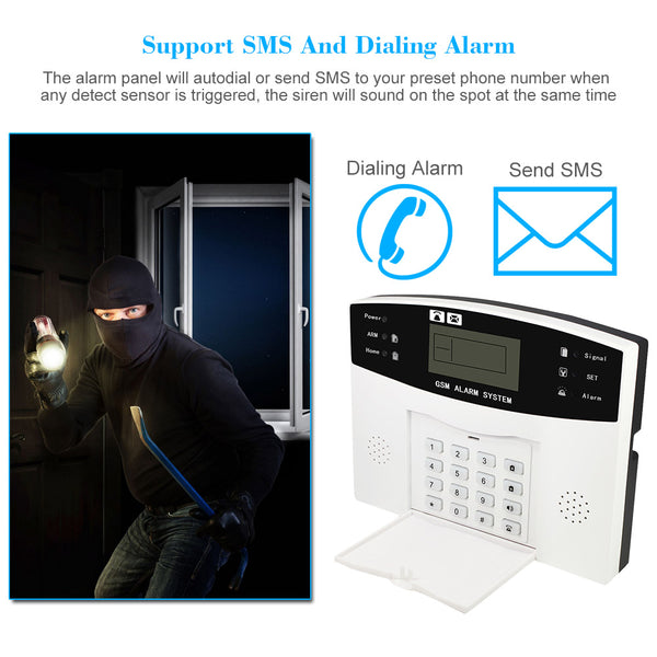 Wireless GSM SMS Home Security Alarm System