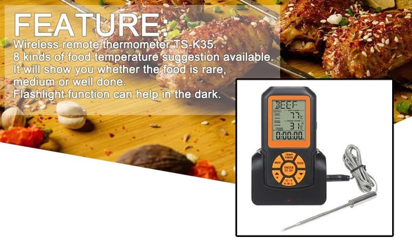 TS-K35 Digital Backlight Wireless Remote Thermometer