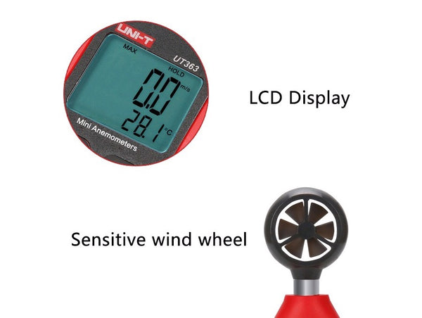 UNI-T UT363 Mini Digital Wind Speed Meter