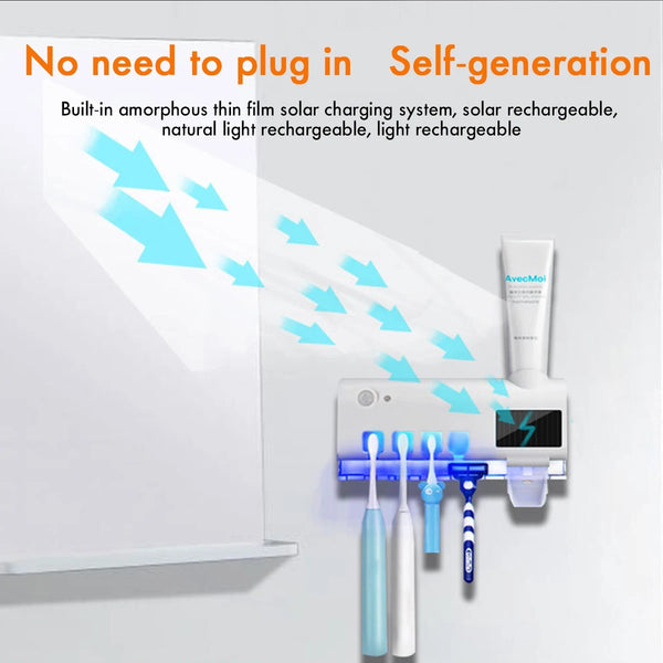 UV Light Toothbrush Holder Sterilizer