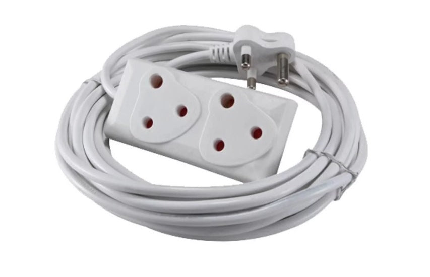 220v 5m Extension Cord With Two-Way Multi-Plug - Electromann SA