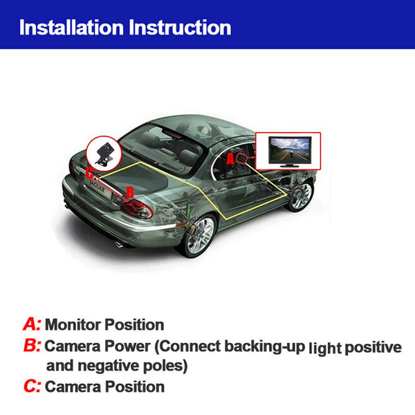 Rearview Backup Parking Camera Kit - Electromann SA
