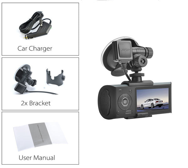##DEMO## X3000 Dual Camera Car DVR - Electromann SA