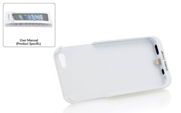 Qi Wireless Charging Back Cover - For iPhone 5 (White)
