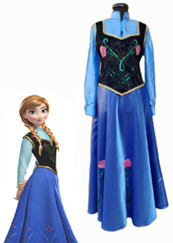 Anna from Frozen costume/Anna from Frozen dress with cap