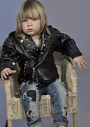 Bon Jovi Hard Rock leather jacket for toddler or little boy