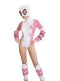 Gwenpool costume with mask shinguards and wristbands