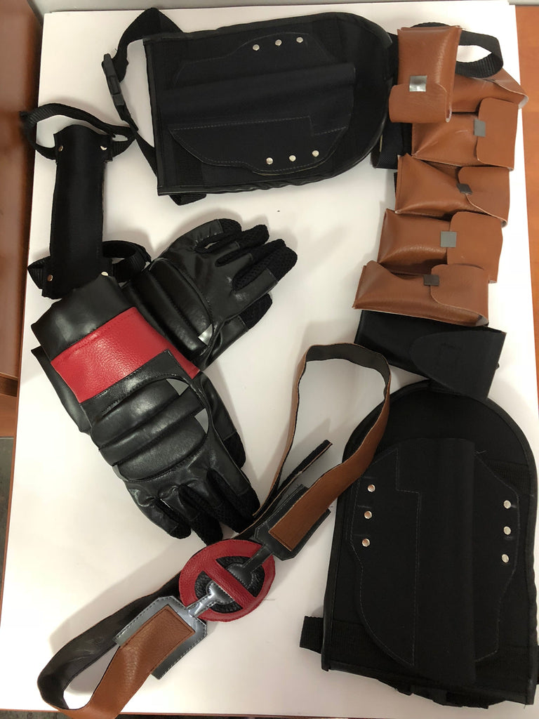 deadpool pouches belt and gloves