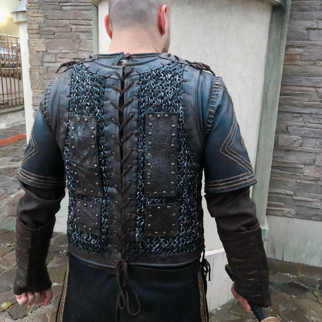 Vikings Ragnar Lothbrok custom order for complete costume with footwear/ Viking costume/ Medieval chainmail