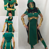 Jade MK cosplay costume with armor