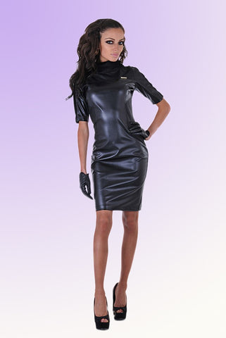 Sexy leather dress with FREE shipping