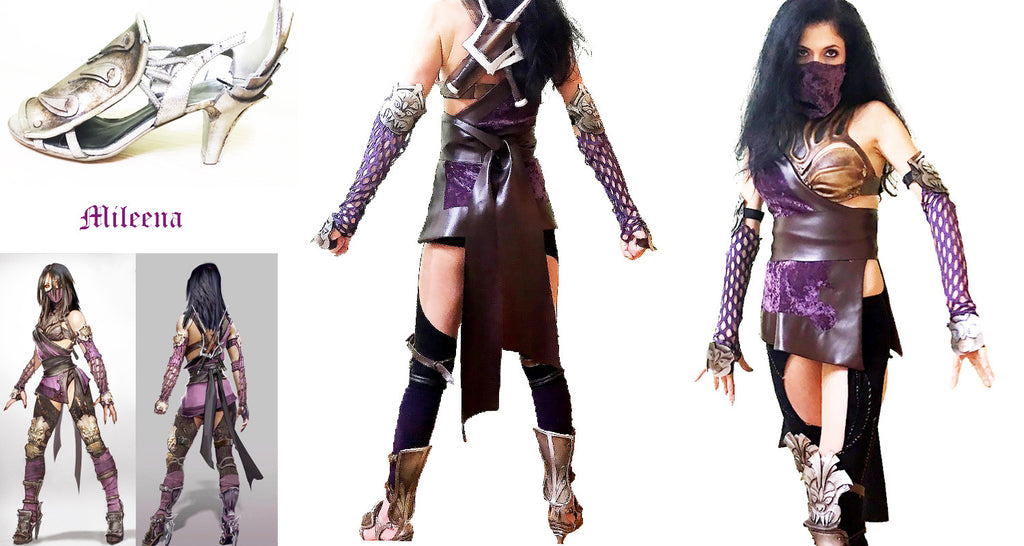 Mileena MK cosplay accessories