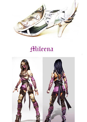 Mileena MK cosplay shoes