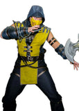 Mortal Combat Scorpion  cosplay costume with weapons and mask