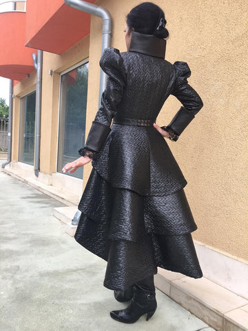 """Once upon a time"" tuxedo replica made of eco leather"