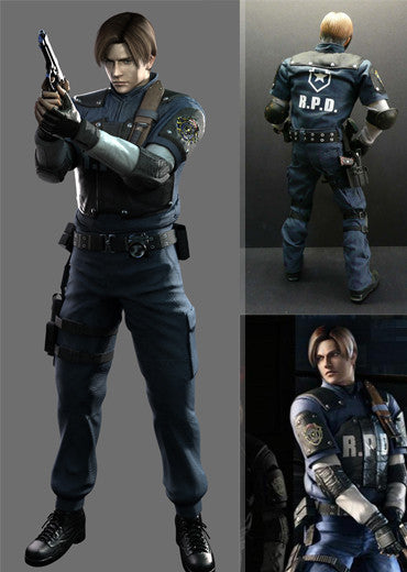 Resident Evil 2 Leon Kennedy R P D Cosplay Costume Partytask