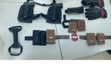 Deadpool accessories: leather pouches, Deadpool belt, gloves, gun holsters