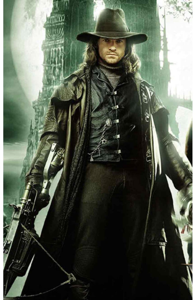Leather trench coat/Lightweight/Mens leather long coat/Van Helsing inspired coat