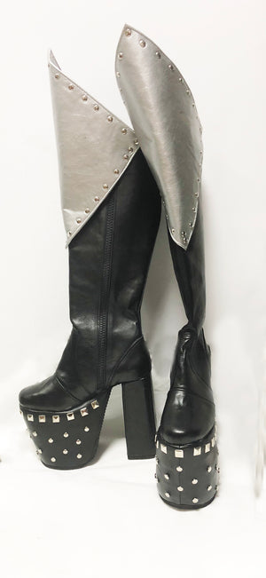 Vinnie Vincent inspired platform boots