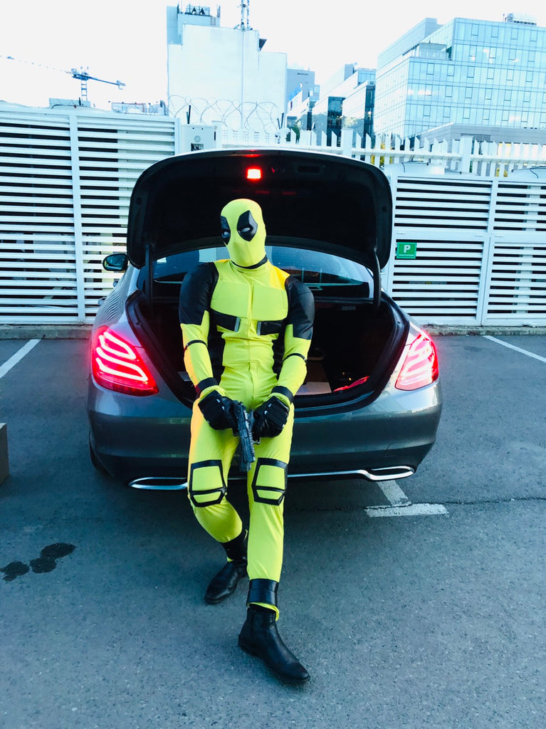 yellow deadpool costume