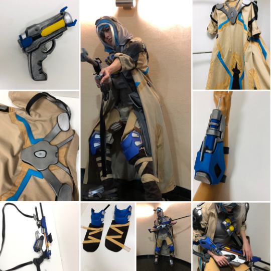 ana overwatch full cosplay costume