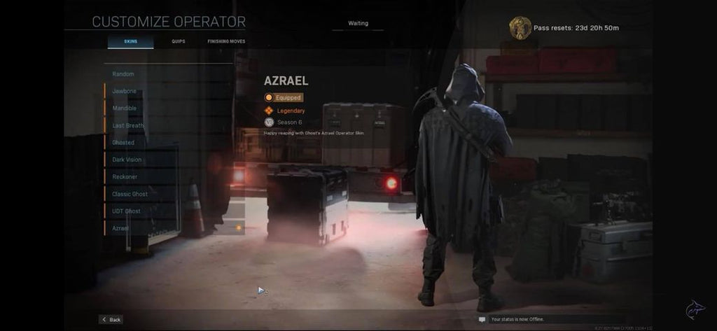 Azrael ghost skin poncho with hood