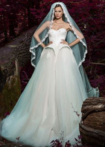Princess wedding dress diamond