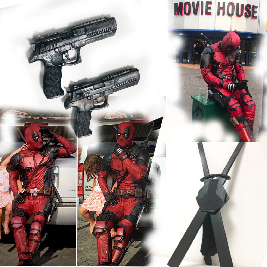 Deadpool movie costume/ Deadpool cosplay costume made to INDIVIDUAL measurements/Deadpool suit with movie mask