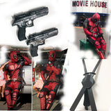 Deadpool suit with katanas and eagle guns