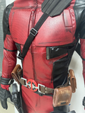 Deadpool costume with mesh effect